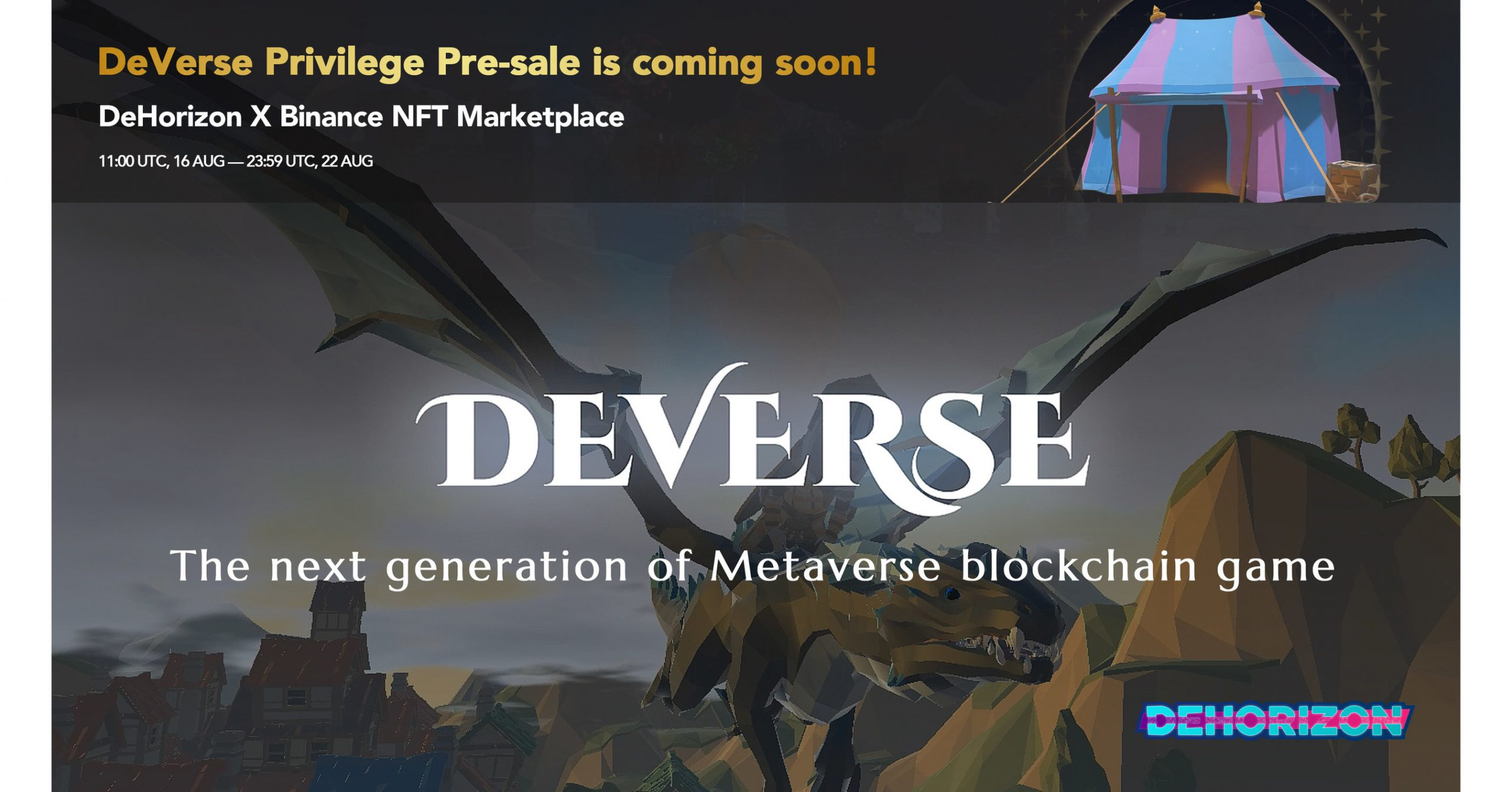 """DeHorizon Foundation is to initiate DeVerse, Blockchain-based MMO/RPG Metaverse, making """"Play for fun and to earn"""" into reality"""
