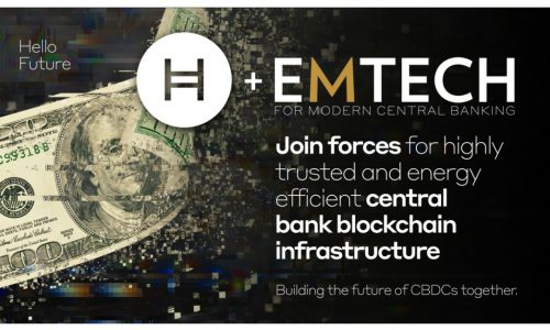 EMTECH and Hedera Hashgraph Join Forces for Highly Performant, Trusted and Energy Efficient Central Bank Blockchain Infrastructure